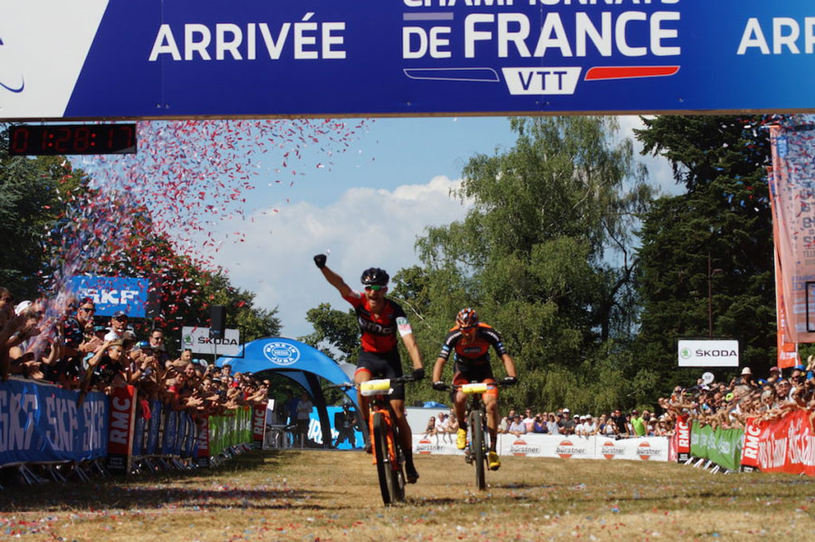 championnats de france de vtt cross-country titouan carod