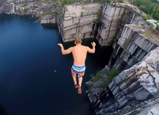 nick coulter cliff jumping vermont